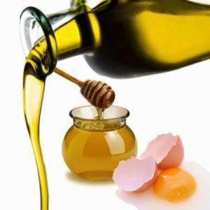 mascarilla nutritiva con miel, aceite de oliva y yema de huevo